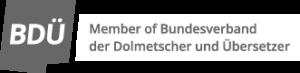 Logo Mitglied im BDÜ