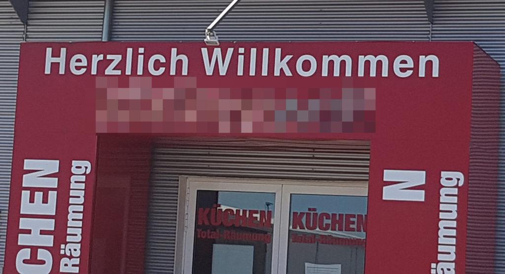 """Schriftzug """"Herzlich Willkommen"""""""