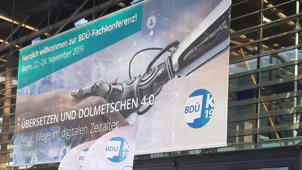Eingang zur BDÜ-Fachkonferenz