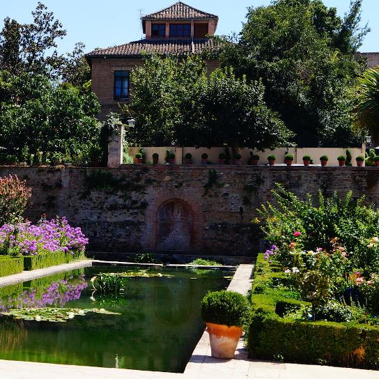 Ein Garten in Granada