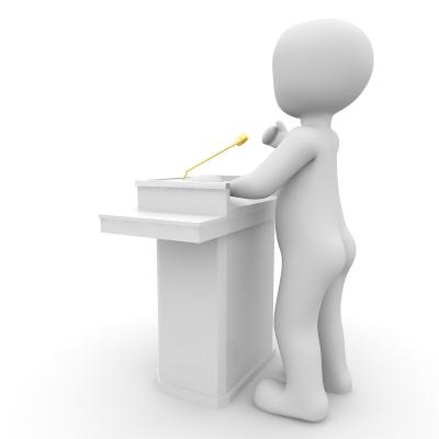 Ein Dolmetscher muss gut präsentieren und kommunizieren
