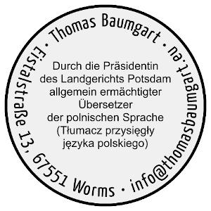 Stempel - Beeidigter Übersetzer Polnisch Worms