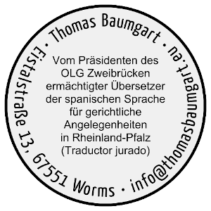 Stempel - Beeidigter Übersetzer Spanisch Worms